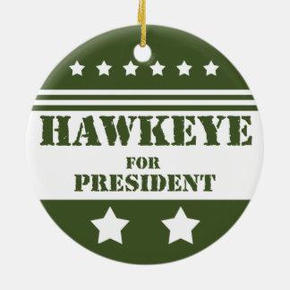 For President Hawkeye Ceramic Ornament