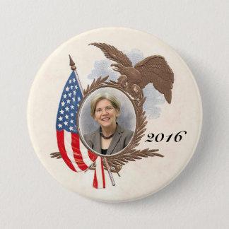 For President in 2016 Elizabeth Warren 7.5 Cm Round Badge
