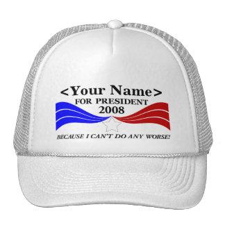 ... for President Template Cap