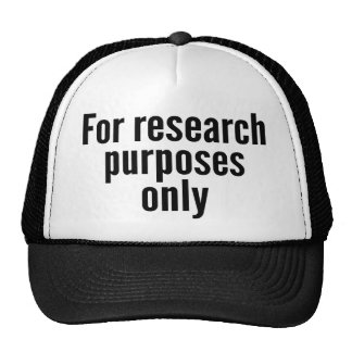 For Research Purposes Only Cap