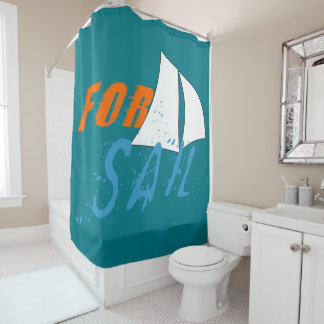 For Sail Shower Curtain