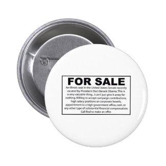 For Sale - Barack Obama's US Senate Seat 6 Cm Round Badge