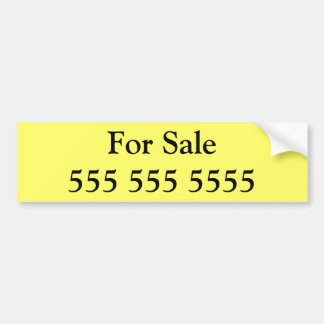 For Sale bumper sticker with phone number