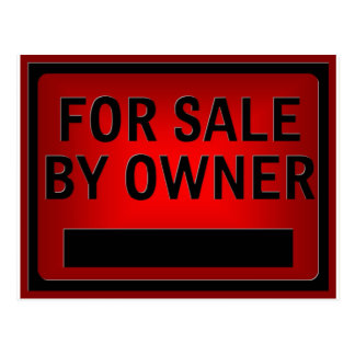 For Sale by Owner Postcard
