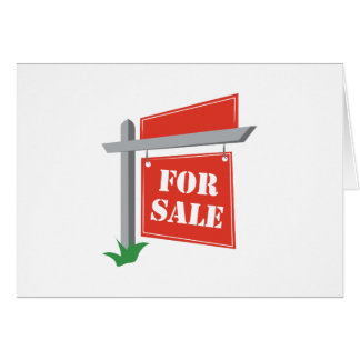 For Sale Greeting Card