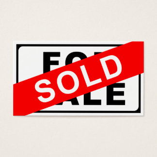 FOR SALE / SOLD sign
