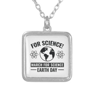 For Science! Silver Plated Necklace