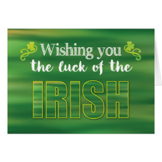For Secret Pal Luck of the Irish, Green St. Patric Card