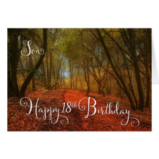 for Son's 18th Birthday - Woodland Path Card
