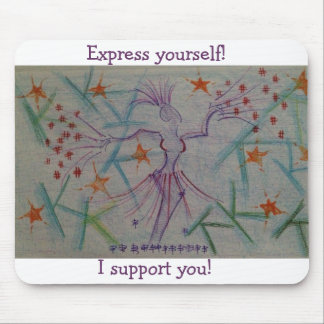 For supporters of art, dance, music, theatre mouse pad