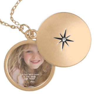 For the Best Mom. Custom Mother's Day Gift. Gold Plated Necklace
