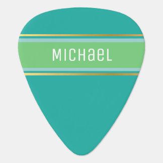 for the classy guitarist / monogram blue guitar pick