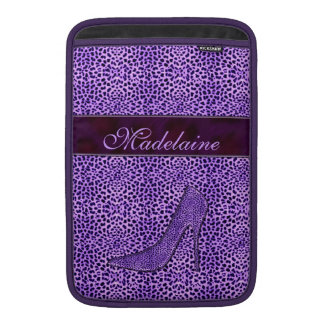 For the Feminine Fashionista Purple Cheetah Sleeve For MacBook Air