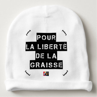 For the FREEDOM OF GREASE - Word game Baby Beanie
