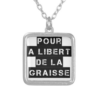 For the FREEDOM OF GREASE - Word game Silver Plated Necklace
