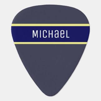 for the guitarist / monogram blue plectrum