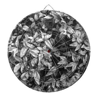 For the Love - Black & White Floral Dartboard