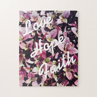 For the Love - Love, Hope, Faith Puzzle