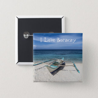 For the Love Of Boracay 15 Cm Square Badge