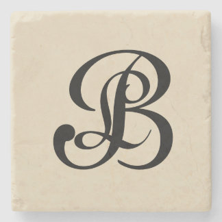 For the Love of Decor - Double Monogram Coaster