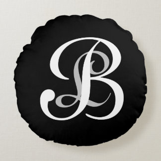 For the Love of Decor - Double Monogram Coaster Round Cushion