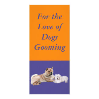 For the love of Dogs Rackcard Custom Rack Card