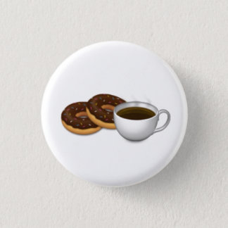 For the love of Donuts and Coffee! 3 Cm Round Badge