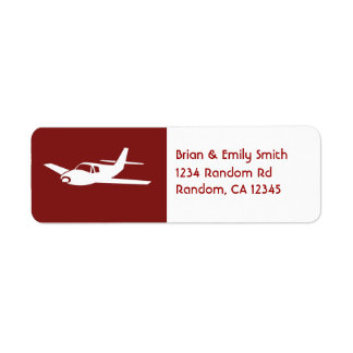 For the love of flying maroon plane custom labels