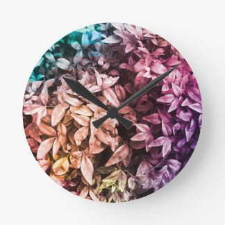 For the Love of Giving - Multi Floral Round Clock