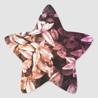 For the Love of Giving - Multi Floral Star Sticker