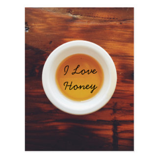 For the love of honey postcard