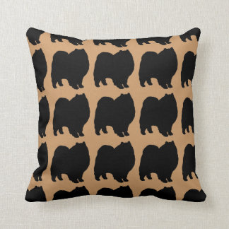 For the Love of Keeshonds Throw Pillow