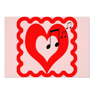 For the Love of Music Personalized Invite