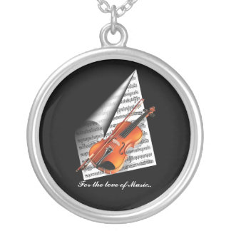 For the love of Music Silver Plated Necklace