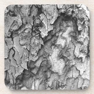 For the Love of Nature - Black & White Bark Coaster