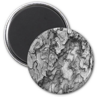 For the Love of Nature - Black & White Bark Magnet