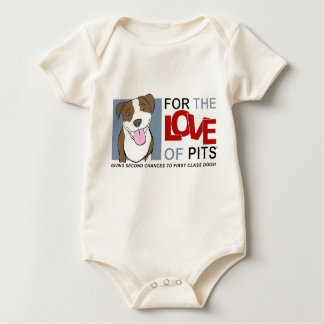 For the Love of Pits® Organic onesy Bodysuit