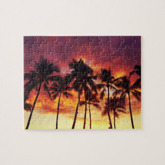 For the Love of Puzzles - Sunset Palm Trees