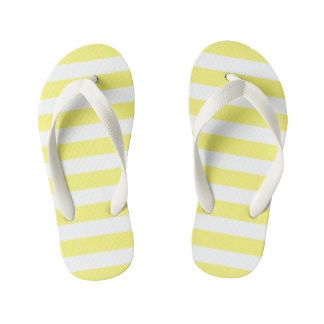 For the Love of Shoes - Yellow Stripe Flip Flops