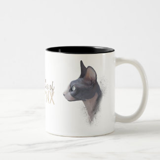 For the love of SPHYNX Two-Tone Coffee Mug