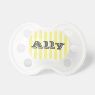 For the Love - Yellow Stripe Pacifier