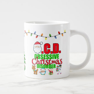 For the slightly obsessive Christmas person Large Coffee Mug