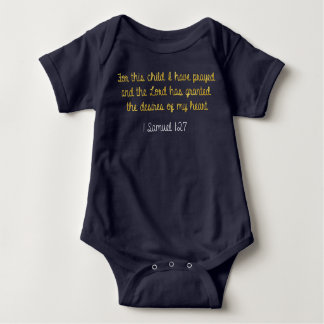 For this Child I have Prayed, 1 Samuel Bible Baby Bodysuit