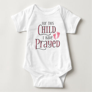 For This Child I Have Prayed Baby Bodysuit