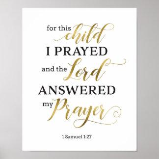 For This Child I Prayed Art Print