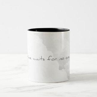 For Time waits not one Two-Tone Coffee Mug