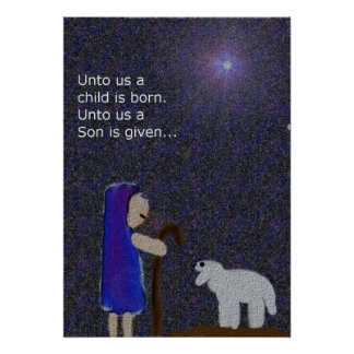 For Unto Us a Child is Born Christmas Poster
