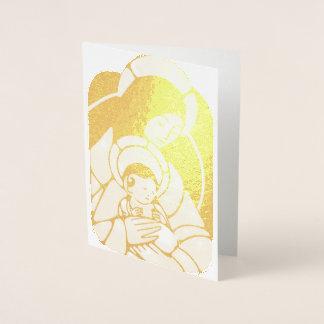 For Unto Us A Child Is Born Foil Card
