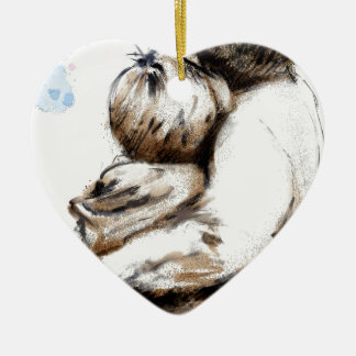 For What does love ask Ceramic Heart Decoration