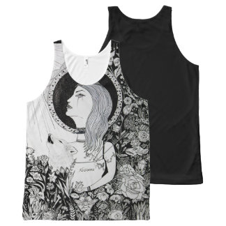 For Who Shall Be Saved - Ink Drawingdark arts girl All-Over Print Singlet